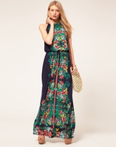 oasis scarf print maxi dress at ASOS 55pounds